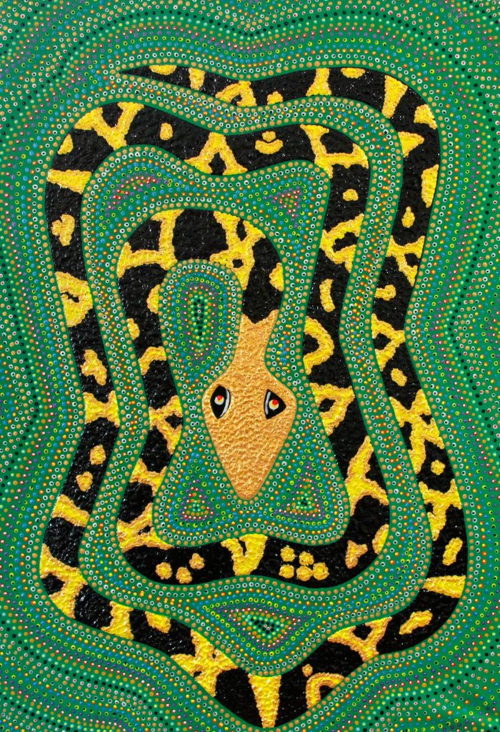 Tiger-snake-dreaming-Acrylic-and-canvas-1100-mm-x-650mm-1© pationpics.com